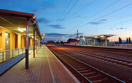 railway points: Passenger train station  - railway