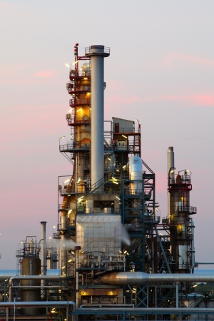 air plant: Oil and gas industry - refinery at twilight -  factory - petrochemical plant