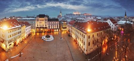 slovakia: Bratislava panorama - Slovacchia - orientale della citt� Archivio Fotografico