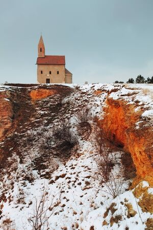 catholic chapel: Nice Catholic Chapel in eastern Europe - village Drazovce near town Nitra Stock Photo
