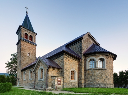 religious building: Nice Catholic Church in eastern Europe - village Babin - Orava - Slovakia