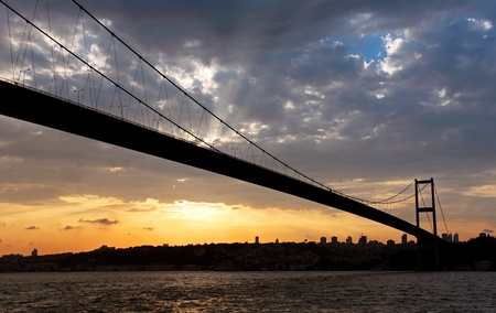 Bosporus bridge at Sunset photo