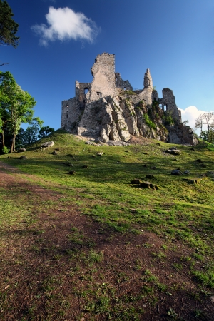 Ruin of Castle Hrusov - Slovakia photo