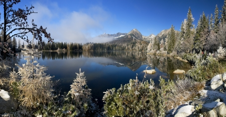 Mirror in a beautiful lake in the High Tatras Stock Photo - 17745714