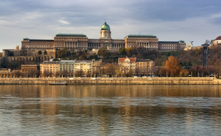Royal Castle and Chain Bridge in Budapest photo