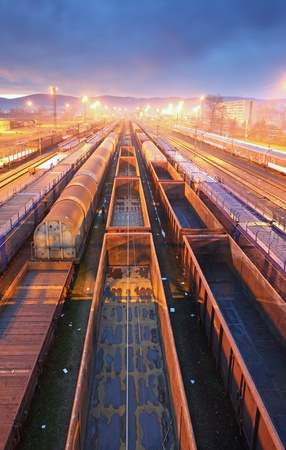 Train Freight transportation platform - Cargo transit photo