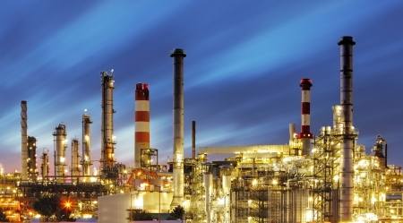 oil and gas industry: Oil and gas industry - refinery - factory - petrochemical plant Stock Photo