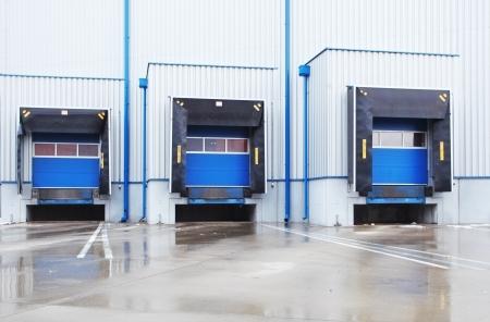 loading dock: row of old loading docks