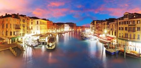 rialto: Venice - Grand Canal from Rialto bridge, Italy Stock Photo