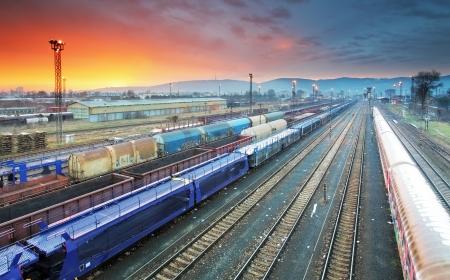 Train Freight transportation platform, Cargo transit photo