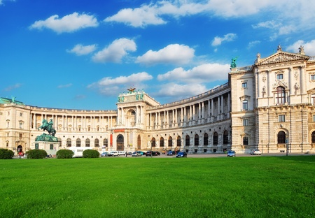 summer palace: Vienna Hofburg Imperial Palace at day, Austria