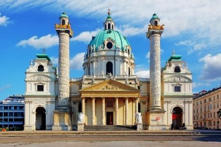 st charles: Vienna - St. Charless Church - Austria