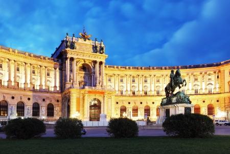 Wien Hofburg in der Nacht, - Österreich