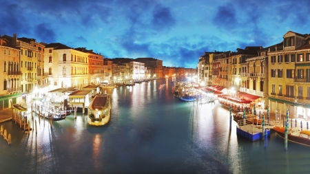 Venice - Grand Canal from Rialto bridge, Italy photo