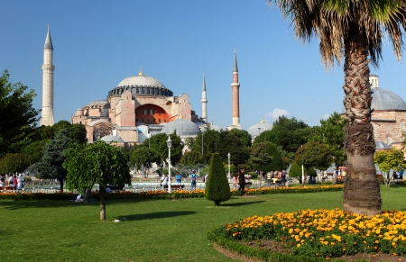 constantinople ancient: Hagia Sophia is the famous historical building of the Istanbul