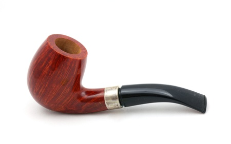 sherlock: Tobacco pipe isolated on white