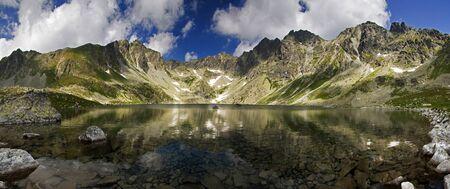 Mountain lake with reflection Stock Photo - 18242009