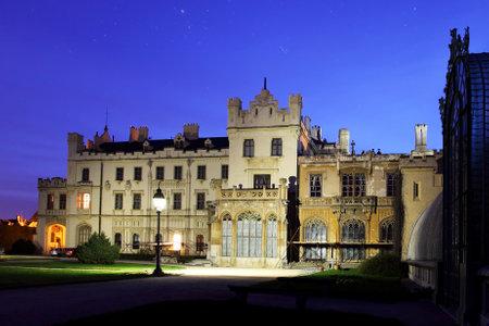 manor house: Romantic castle in Lednice Czech republic