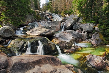 torrent: Waterfall in Tatra mountain, Slovakia - Studenovodsky