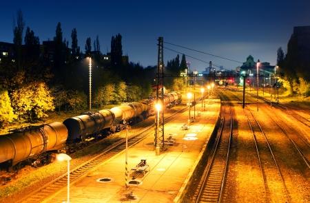 railroad station platform: Train Freight transportation platform - Cargo transit