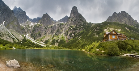 Green lake in the mountains, Tatras Stock Photo - 18673346