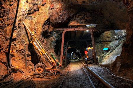 Histórico oro, plata, mina de cobre Foto de archivo - 18673343