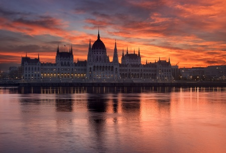 Budapest parliament building in sunrise - Hungary Stock Photo - 18681178