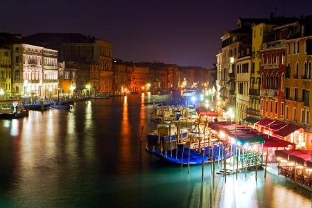 venice gondola: Venice - panoramic view from Rialto bridge Stock Photo