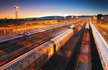 railway transport: Train Freight transportation platform, Cargo transit Editorial