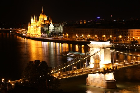 magyar: Budapest, Hungarian parliament and chain bridge