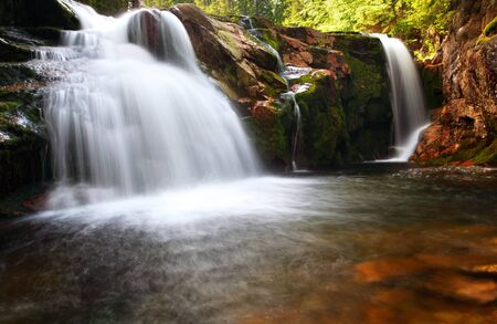 lps: Small elbe waterfall Stock Photo
