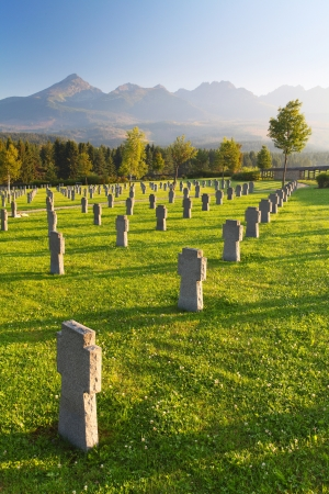 military cemetery: Cemetery for german soldiers - Slovakia Stock Photo