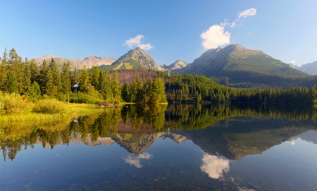 Slovakia Mountain Lake in Tatra - Strbske Pleso photo