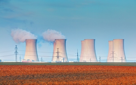Nuclear power plant with clouds Stock Photo - 19259699