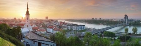 bratislava:  Bratislava panorama at sunrise
