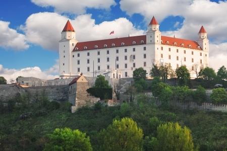 Castillo de Bratislava - Eslovaquia Foto de archivo