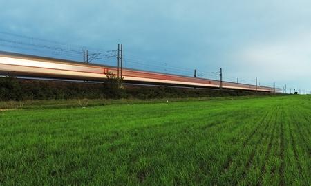 High-speed rail.  photo
