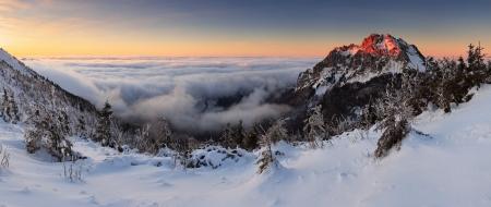 Roszutec peak in sunset - Slovakia mountain Fatra photo