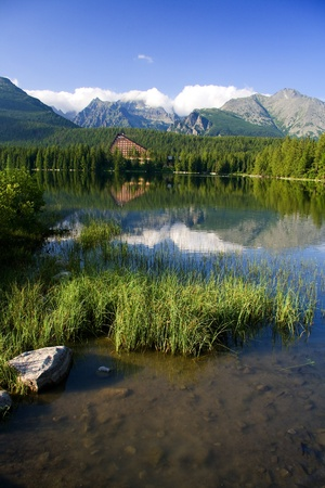 Beautiful Lake in High Tatras - Strbske pleso photo