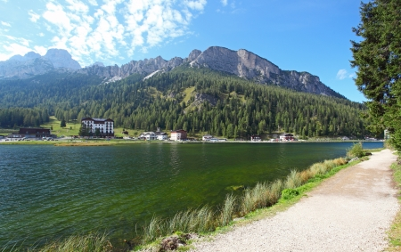 lake misurina: Lake Misurina in Italy mountain dolomites