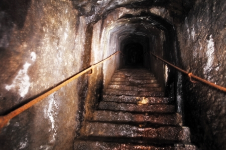 horrors: Old Staircase leading up to unknown darkness