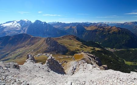 sella: Mountain landscape in Italy mountain Stock Photo