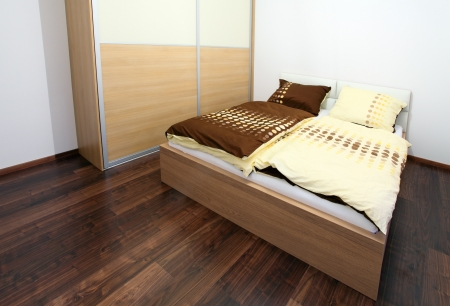 Modern bedroom interior  photo