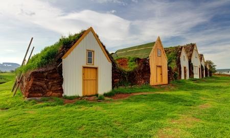 Old traditional Icelandic farm - Glaumber Stock Photo - 20614801