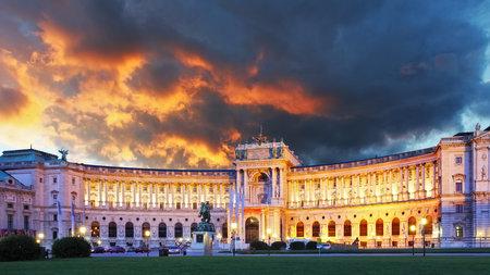 비엔나 호프 부르크 궁전 - 오스트리아 에디토리얼