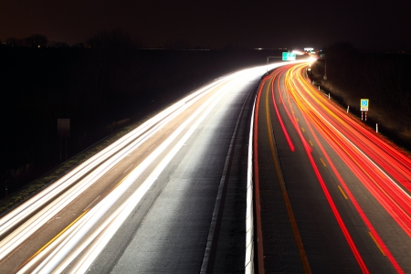 speeding: Long exposure photo of traffic