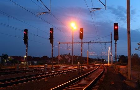 railroad station: Traffic light in railroad