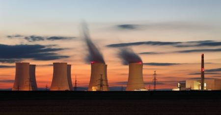 exhalation: Nuclear power plant by night