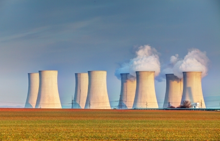 Nuclear power plant with clouds Stock Photo - 20859127