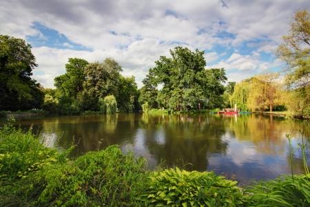 zagreb: Lake in park - Maksimir, Zagreb
